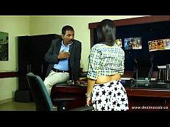 Big boob girl seduced and enjoyed by tharki boss