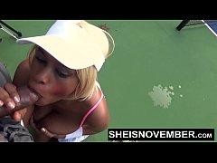 Ebony Nudist Loves Flashing Big Tits And Round ...