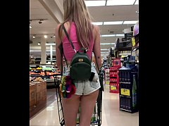 Petite Babe Haley Reed Flashes Tits in Grocery ...