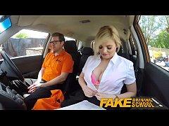 Fake Driving School Posh busty blonde examiner ...