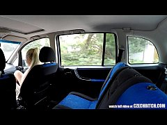 Cute Blonde TEEN Gets Driver´s Lesson