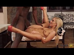 BLACK4K. Lovely young Nesty with blonde hair en...