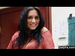 Nice auditon with a perfect beautiful latina