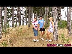 Bisex threeway outdoors