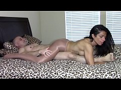 Orgasm by grinding dick in pantyhose