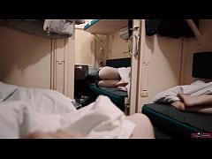 Travel Girl Seduce Stranger Guy on the Train an...