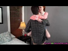 Redhead teen Dolly fucking with a nerd guy