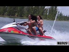 Teens Ride the Party Boat video starring Eva Sa...