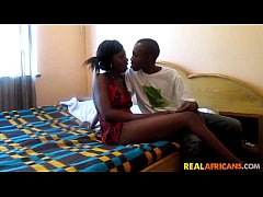 Amateur Ebony Teen Couple Fucks at Home