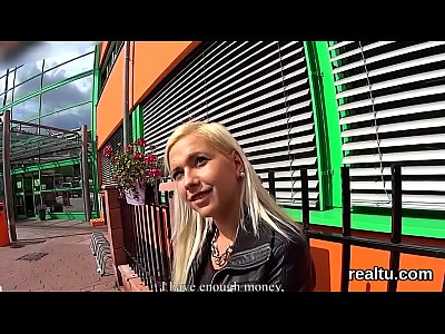 Glamorous czech cutie is tempted in the supermarket and poked in pov