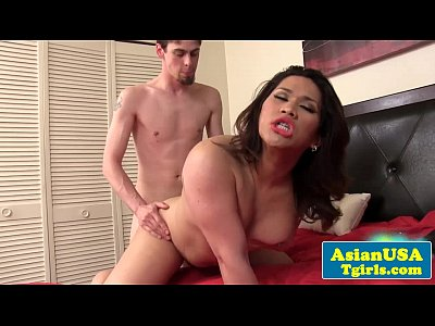 Bigass asian shemale fucked by a skinny dude