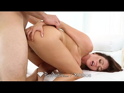 PUREMATURE Big Rack MILF FUCKED with messy facial
