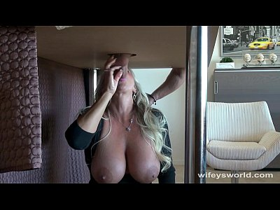 Wifey's Milking Table Monster Cum Swallow