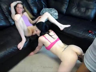 black dude w monster cock fucks 2 white milfs