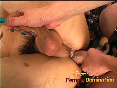 Slave gets pegged and a blowjob from his horny mistress-6