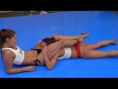 Girls Wrestling Foot Domination Headscissor SGP Domination