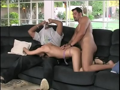 Curious brunette gal Victoria Sin tries to determine what cocks whe like more: white or black