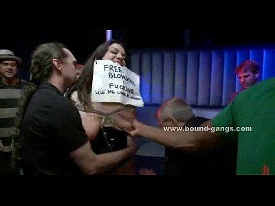 porn free in Burglars make fun of woman in gangbang