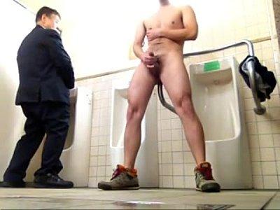public toilet jerk-off - Hot Goo