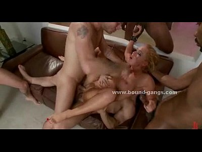 Busty slut lost at poker gang banged