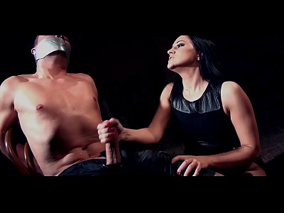 Clair Brooks and prey tied down to chair tapegagged