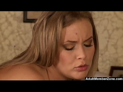 Hot Blonde Has A Taste Of The Waiter
