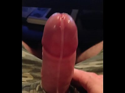 Big Cock Masturbating Hands-free Cum