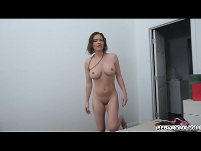 Busty hot momma Krissy Lynn gave her handsome stepson a nice titty fuck and even swallowed his hot cum.