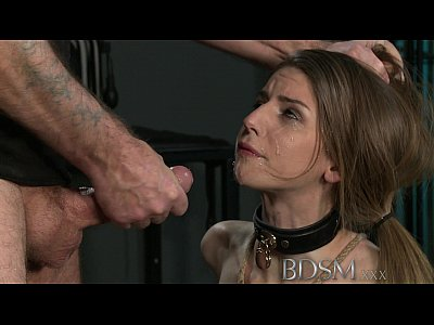 porn free in BDSM XXX Young big breasted sub gets hard anal from her Master