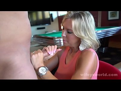 Wifey Gets A Big Cock Surprise And Covered In Cum