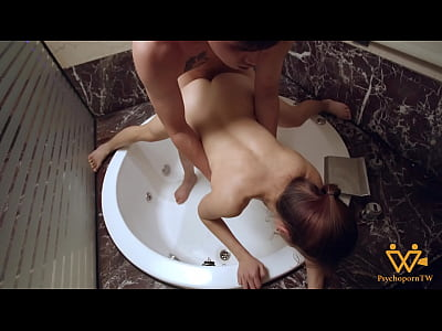 Steamy Hot Sex with Asian MILF in the bathroom-...