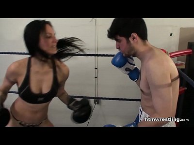 Femdom Boxing Beatdown of a Wimp