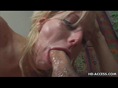 Blonde pornstar gets face full of deepthroat spunk