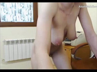 Mature blonde with saggy tits - AdultWebShows.com