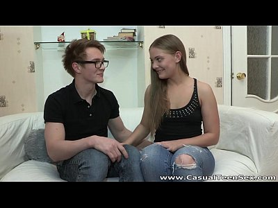 Casual Teen Sex - Fucking in sexy glasses Olivia