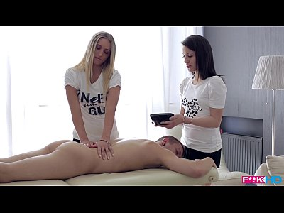 Sexy Teen Duo Massage with Happy Ending