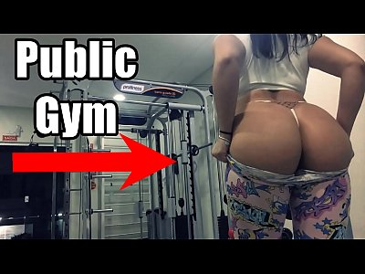 Morena Safada Se Exibindo na ACADEMIA, Mostrando os peitos e Masturbando Gostoso - Hot Gym Girl Emanuelly Raquel