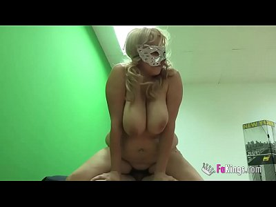 Big boobed chubby blonde needs desperately a cock inside her