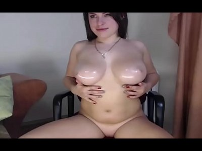 White Chick With Nice Oily Tits - More Video queencams.net