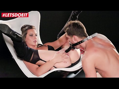 LETSDOEIT - Sweet Brunette Naomi Bennet Gets Her Pussy Fucked Hard & Intense By A Big Black Strapon