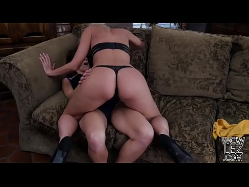eva long and katie morgan have lesbian sex on a couch