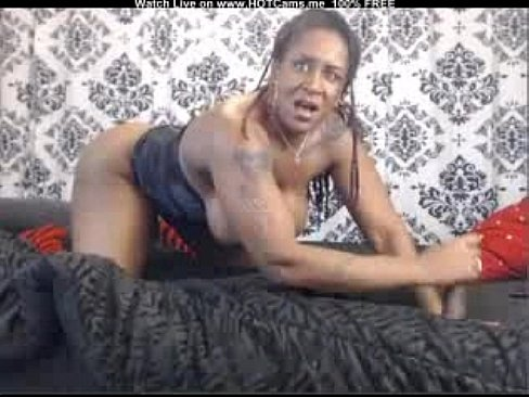 Busty Hot Black Mom Rides And Fucks Dildo