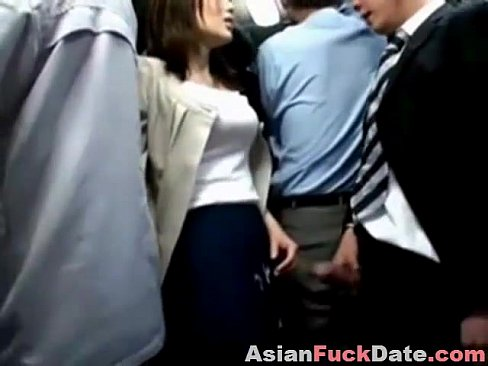 Asian Public Bus Handjob