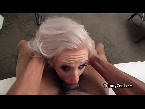 tranny enjoyed black cock in her mouth