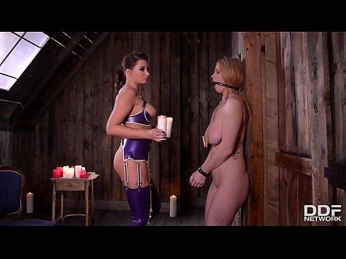 Dominant client spanks fetish prostitute Satin Bloom's ass before blowjob