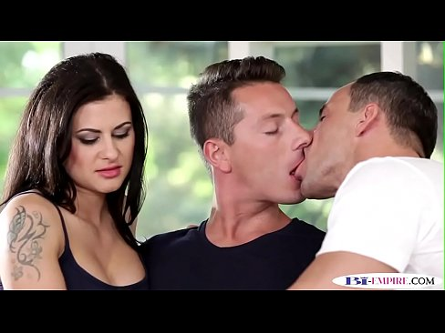 Assfucked studs pounding a glamcore maid