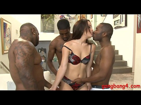 Kinky babe double fucked by black dudes on the couch XXX Sex Videos