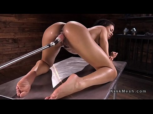 Ebony Fuck Machine Orgasm