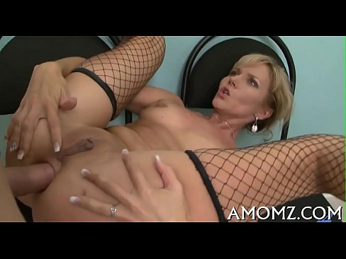 Fellow works on slutty mature pussy