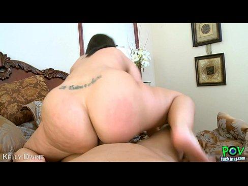 brunette kelly divine suck cock in pov style
